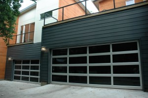 contemporary style glass garage door denver co